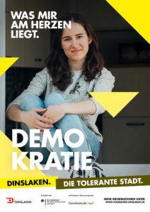 Tolerantes Dinslaken - Wir für Demokratie – Fotoaktion Stadtgesichter Dinslaken - Plakat Nummer 1