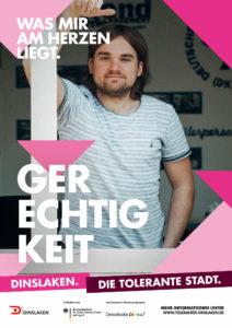 Tolerantes Dinslaken - Wir für Demokratie – Fotoaktion Stadtgesichter Dinslaken - Plakat Nummer 2